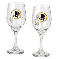Officially Licensed NFL 2-piece Wine Glass Set-Redskins