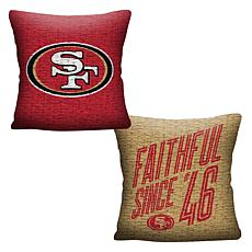 """Officially Licensed NFL 20"""" Invert Pillow - 49ers"""