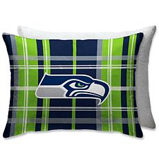 """Officially Licensed NFL 20"""" x 26"""" Plush Bed Pillow - Seattle Seahawks"""