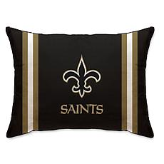 """Officially Licensed NFL 20"""" x 26"""" Plush Striped Bed Pillow - Saints"""