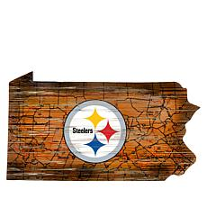 "Officially Licensed NFL 24"" State Sign with Team Logo"