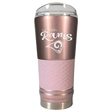 Officially Licensed NFL 24oz Rose Gold Draft Tumbler- Los Angeles Rams