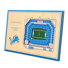 Officially-Licensed NFL 3-D StadiumViews Display - Detroit Lions