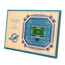 Officially-Licensed NFL 3-D StadiumViews Display - Miami Dolphins