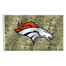 "Officially Licensed NFL 3"" x 5"" Camo Flag - Broncos"