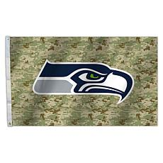 "Officially Licensed NFL 3"" x 5"" Camo Flag - Seahawks"