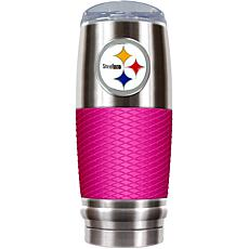Officially Licensed NFL 30 oz. Stainless Steel/Pink Res