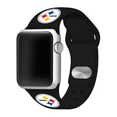 Officially Licensed NFL 38/40mm Apple Watch Band - Pittsburgh Steelers