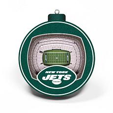 Officially Licensed NFL 3D StadiumView Ornament 2-pack - New York Jets