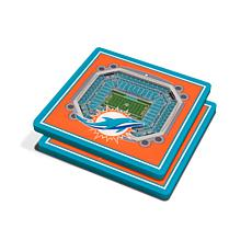 Officially Licensed NFL 3D StadiumViews Coaster Set - Miami Dolphins