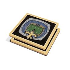 Officially Licensed NFL 3D StadiumViews Coaster Set-New Orleans Saints