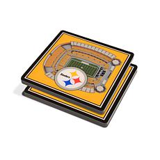 Officially Licensed NFL 3D StadiumViews Coasters - Pittsburgh Steelers