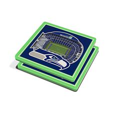 Officially Licensed NFL 3D StadiumViews Coasters - Seattle Seahawks