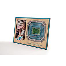 Officially Licensed NFL 3D StadiumViews Frame - Miami Dolphins