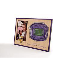 Officially Licensed NFL 3D StadiumViews Frame - Minnesota Vikings