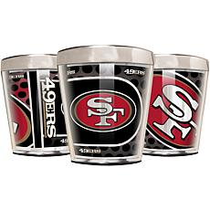 Officially Licensed NFL 3pc Shot Glass Set - 49ers