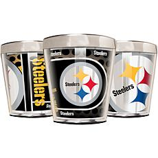 Officially Licensed NFL 3pc Shot Glass Set - Steelers