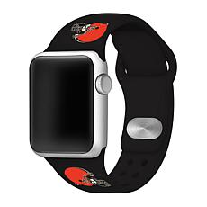 Officially Licensed NFL 42/44mm Apple Watch Band - Cleveland Browns