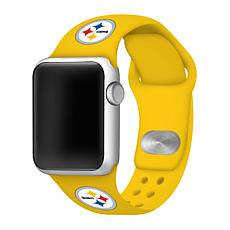 Officially Licensed NFL 42/44mm Apple Watch Band - Pittsburgh Steelers