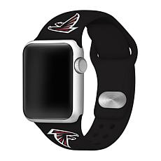 Officially Licensed NFL 42/44mm Apple Watch Med. Sport Band - Falcons