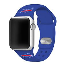 Officially Licensed NFL 42/44mm Blue Apple Watch Band - Buffalo Bills
