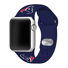 Officially Licensed NFL 42mm/44mm Apple Watch Med. Sport Band - Texans