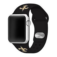 Officially Licensed NFL 42mm/44mm Apple Watch Med. Sport Band - Saints
