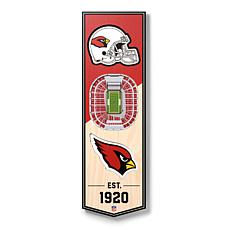 "Officially Licensed NFL 6"" x 19"" 3D Stadium Banner - Arizona Cardinals"