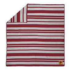 Officially Licensed NFL Acrylic Stripe Throw Blanket - Atlanta Falcons