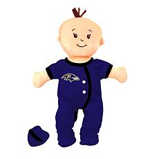Officially Licensed NFL Baby Fanatic Wee Baby Doll - Baltimore Ravens