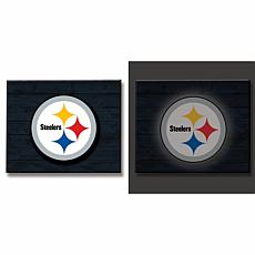 Officially Licensed NFL Backlit Wood Plank Wall Sign - Steelers