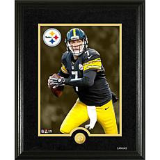 Officially Licensed NFL Ben Roethlisberger Gold Coin Canvas Photo Mint