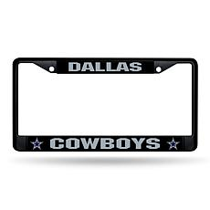 Officially Licensed NFL Black Laser-Cut Chrome License Plate Frame ...