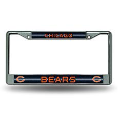 Officially Licensed NFL Bling Chrome Frame - Bears