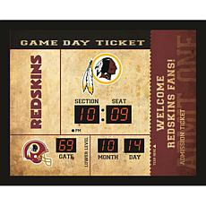 Officially Licensed NFL Bluetooth Scoreboard Wall Clock - Redskins