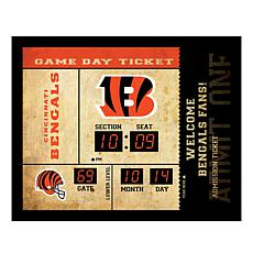 Officially Licensed NFL Bluetooth Wall Clock - Bengals