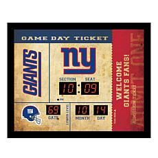 Officially Licensed NFL Bluetooth Wall Clock - Giants