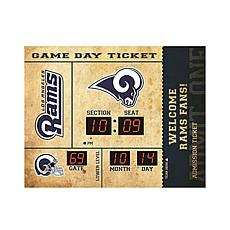 Officially Licensed NFL Bluetooth Wall Clock - Rams