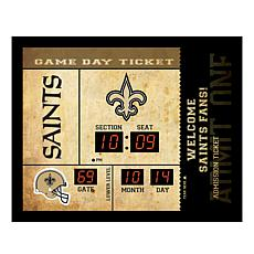Officially Licensed NFL Bluetooth Wall Clock - Saints