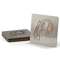 Officially Licensed NFL Boasters 4-piece Coaster Set - WA Redskins