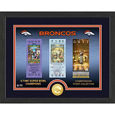 Officially Licensed NFL Bronze Coin Ticket Photo Mint - Broncos