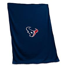 Officially Licensed NFL by Logo Chair Sweatshirt Blanket - Texans