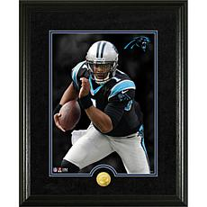 Officially Licensed NFL Cam Newton Gold Coin Canvas Photo Mint