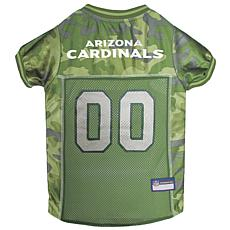 Officially Licensed NFL Camo Pet Jersy - Arizona Cardinals
