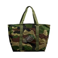 Officially Licensed NFL Camo Tote - Eagles