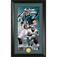 Officially Licensed NFL Carson Wentz Supreme Coin Photo Mint