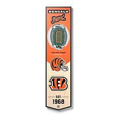 Officially Licensed NFL Cincinnati Bengals 3D Stadium Banner