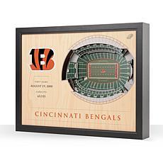 Officially Licensed NFL Cincinnati Bengals StadiumView 3D Wall Art