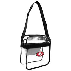 Officially Licensed NFL Clear Carryall Crossbody - 49ers