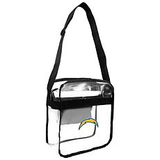 Officially Licensed NFL Clear Carryall Crossbody - Chargers